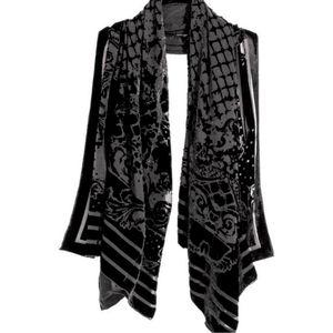 Balmain x H&M Silk Velvet Burnout Scarf